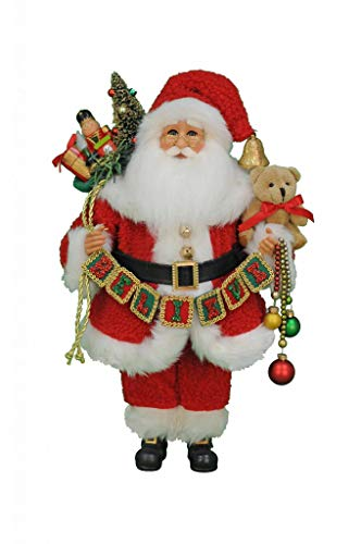 Karen Didion Originals Believe Santa Figurine, 17 Inches - Handmade Christmas Holiday Home Decorations and Collectibles