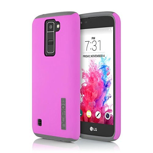Incipio Cell Phone Case for LG K7 - Retail Packaging - Pink/Gray