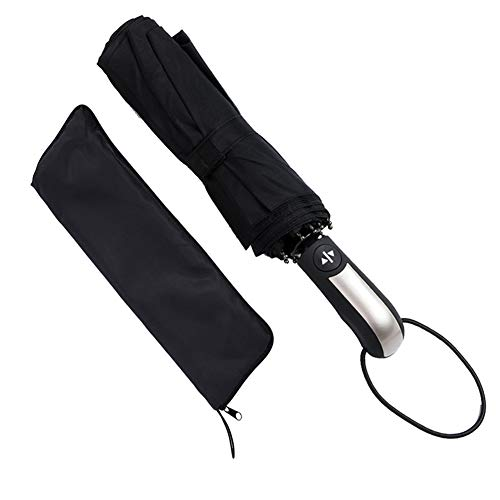 Regenschirm - Covacure Automatik Taschenschirm Teflon-Beschichtung Schnell Trocknender Windsicher Schirm für Herren und Damen, Schwarz