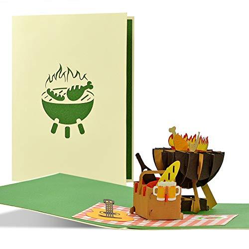 Grill Gutschein I Einladung zum Grillen, Gartenparty, Grillparty, Grillfest, Sommerfest, | Gutschein BBQ Geschenke für Männer | Vatertagsgeschenk, H32