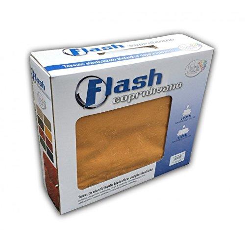 tex family COPRIDIVANO Flash Giallo OCRA Elasticizzato - 3 POSTI da CM. 170 A 230