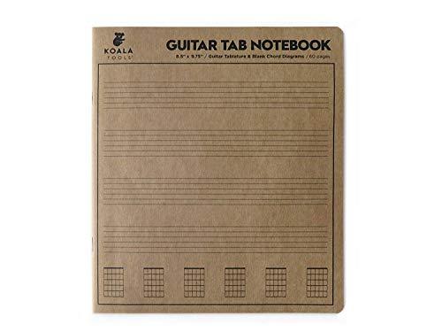Koala Tools | Guitar Tablature - Guitar Tab Notebook (1 Book) | 8.5' x 9.75' 60pp. - Blank Paper, Sheets for Music Chord Notation