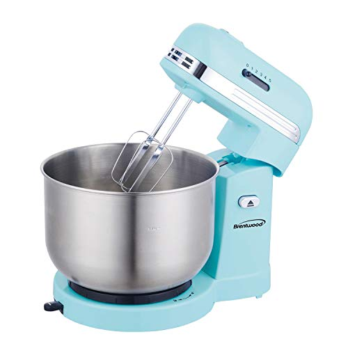 Brentwood Appliances BTWSM1162BL 5-Speed Stand Mixer with 3-Quart Stainless Steel Mixing Bowl (Blue), One Size