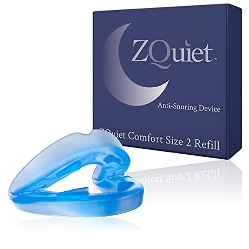 ZQUIET Anti-Snoring Mouthpiece Solution Comfort Size #2 (Single Device/No Storage Case) - Made in USA & FDA Cleared, Natural Sleep Aid, Dentist Designed Oral Appliance