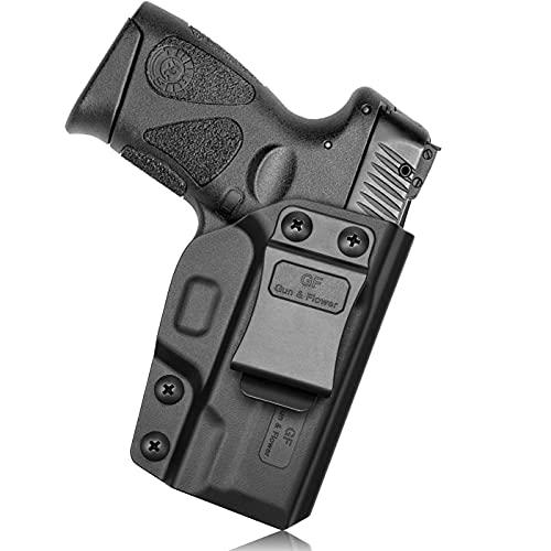 GUN & FLOWER Taurus G2C Holster, IWB Holster Fit Taurus G2C/G3C, Taurus PT111 G2/PT140 G2, Concealed Carry Polymer Holster for Inside Waistband, Adjustable Cant & Retention/Fit 1.5 Inch Belt