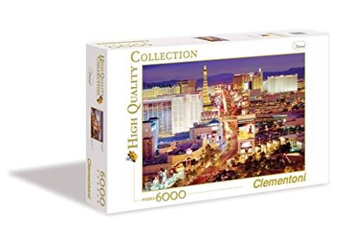Clementoni 36510 Las Vegas – Puzzle 6000 Teile, High Quality Collection, Geschicklichkeitsspiel für die ganze Familie, farbenfrohes Legespiel, Erwachsenenpuzzle ab 14 Jahren