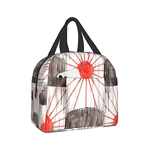 Demon Slayer Kimetsu No Yaiba Tanjiro'S Earring Lunch Bag Tote Anime Container For Women Box Insulated Kids Cooler Travel