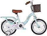Bicicletas para niños, Bicicleta para niños 12 '14' Campus Bicicleta Princesa Coche con rueda de equilibrio Boy Chica Camino Montar a caballo Mojeando Mountain Bike (Color: Rosa, Tamaño: 12inches)