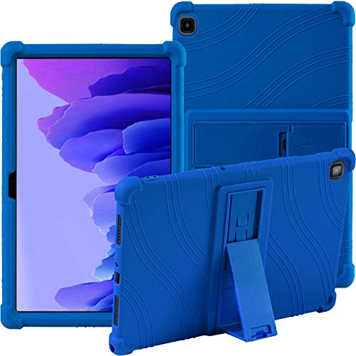 Samsung Galaxy Tab A7 10.4 Inch (SM-T500/T505/T507) Silicone Case, ATOOZ PC Holder Tablet Case, Anti-drop for Samsung Galaxy Tab A7 10.4'' 2020 Case (Dark Blue)