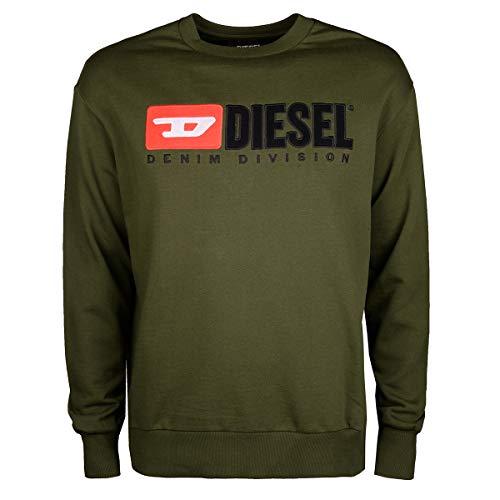Diesel S-Crew-Division Swea - Felpa da uomo verde M