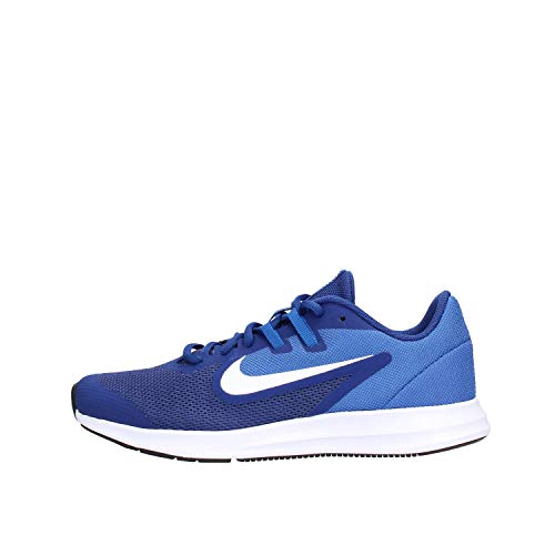 Nike Downshifter 9 (GS), Zapatillas de Running para Asfalto Unisex Niños, Multicolor (Deep Royal Blue/White/Game Royal/Black 400), 39 EU