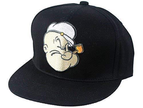 Looney Tunes officiel, Popeye caps Casquette de baseball à visière plate Unisexe chapeaux, hip hop