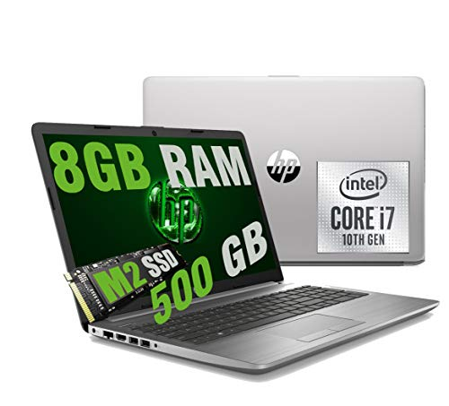 HP i7 250 G7 Silver Portátil LED FHD 15.6' CPU Intel Quad Core i7-1065G7 10Th Gen 3,9Ghz / RAM 8GB DDR4 / SSD M2 500GB / Graphic Intel Iris Plus / HDMI DVD-RJ-45 Wifi Bluetooth / Windows 10 Home