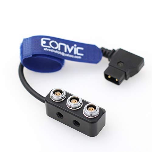 Eonvic D-tap a 3xRS 3 pines hembra distribuidor divisor de alimentación de cámara