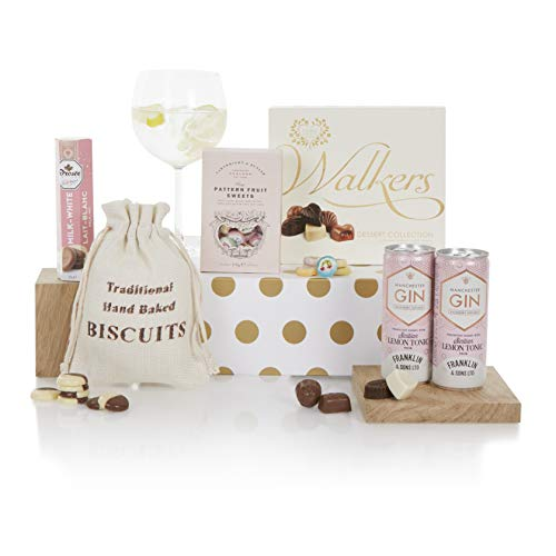 Gin and Treats Hamper - Gin Hampers - Gin and Tonic Lover's Gift Idea - Gin Gift Hampers
