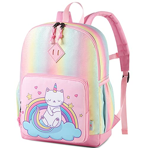 Backpack for Little Girls,VASCHY Cute Rainbow Glitter Lightweight Water Resistant Preschool Backpack...