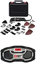 Porter-Cable PCE605K 3-Amp Corded Oscillating Multi-Tool Kit with 52 Accessories with PORTER-CABLE PCC771B Bluetooth Radio