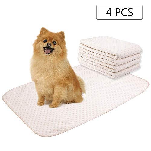 Yangbaga 4pcs Tapis ducateur pour Chien 50 * 70CM-tapis lavable pour animaux de compagnie- Tapis de chien confortable