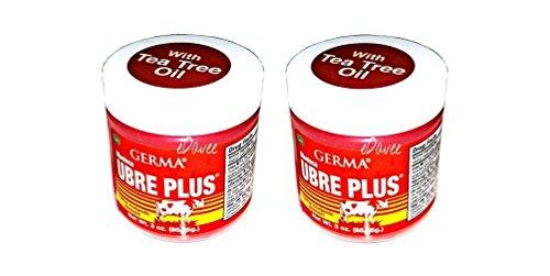 Germa Manteca Ubre Plus Roja/Red with Tea Tree Oil 3 oz. Jar 2-PACK