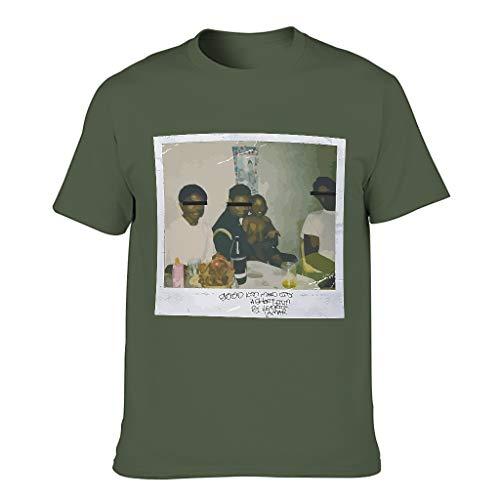 Männer - Gute Kind, M.A.A.D Stadt Album Cover Art Poster T-Shirt Neu -Vintage Poster Papa-Geschenk-T-Shirt Army Green 2XL