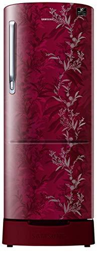 Samsung 230 L 3 Star Inverter Direct-Cool Single Door Refrigerator (RR24T285Y6R/NL, Mystic Overlay Red)