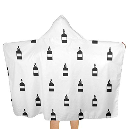 qisile Badetuch Bee Drops Hooded Beach Towels,Pool Bath Towel Soft Microfiber Multi-Purpose Poncho Swim Cover Changing Robe Fun Multi-use for Bath Shower Pool Swim 32x52 Inch Kids
