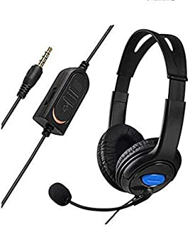 Headphone Wired Headset With Microphone Stereo For PlayStation 4 PS4 Black