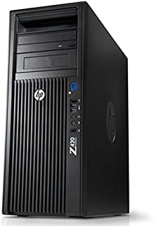 HP Z420 Gaming Computer,Quad Core Xeon CPU upto 3.8GHz CPU, 16GB RAM, New 240GB SSD & 1TB HDD, Windows 10 Pro, USB 3.0, DVD-RW, WiFi,Nvidia GeForce GT630 Support HDMI-(Renewedd)