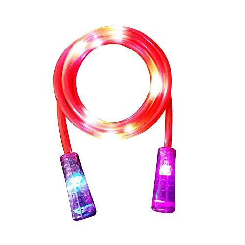 Cheerfulus LED-Springseil für Kinder, Erwachsene, Fitness-Ausrüstung, rot