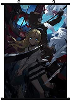 Mxdza New Japanese Anime Angels of Death Fabric Painting Anime Home Decor Wall Scroll Posters for Decorative 40x60CM