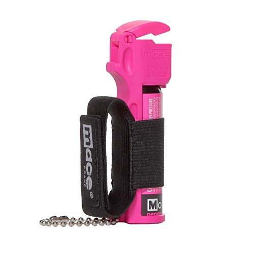 Mace Brand Sport Pepper Spray (Neon Pink) – Accurate 12' Powerful Pepper Spray with Adjustable Hand Strap and Flip Top Safety Cap, Leaves UV Dye on Skin – Great for Self-Defense