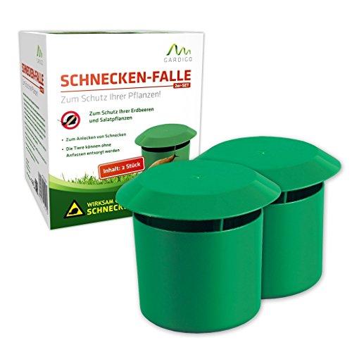 Gardigo Schnecken-Falle 2er Set I Bio Schneckenschutz für den Garten I Umweltfreundliche Schneckenbekämpfung