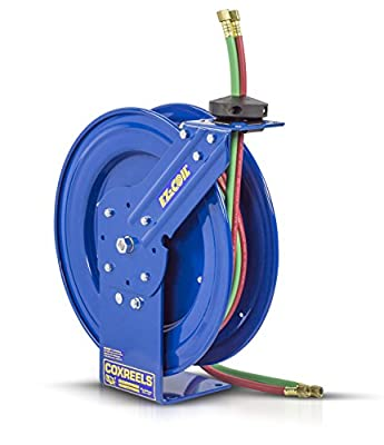 "Coxreels Safety Series Dual Hose Spring Rewind Hose Reel with ""T"" grade hose"