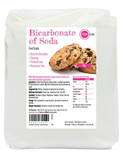 PINK SUN Rein Bikarbonat 1kg Speise Food Grade Backpulver Backtriebmittel 1000g Groß - Bicarbonate of Soda Edible Baking Soda Raising Agent Bulk Buy