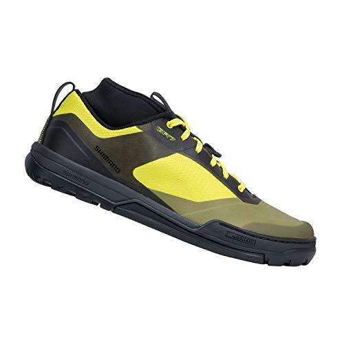 SHIMANO SH-GR701 Versatile Flat Pedal Trail Shoe, Yellow, 46