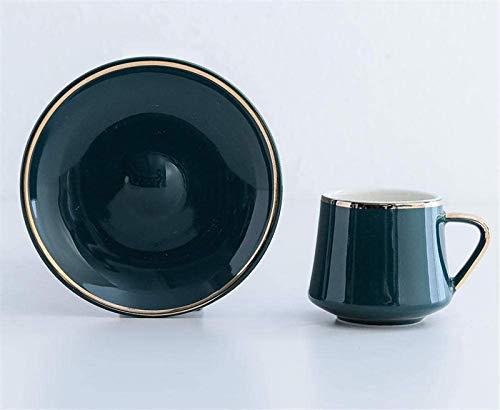 Kreative Kaffeetasse Set Türkische Keramik Kaffeetasse Untertasse Senden Löffel 220ml Royal Black Tasse und Untertasse