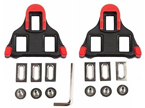 hothuimin Vélo Crampons autobloquante Route Cyclisme Vélo Taquet Ensemble Compatible avec Shimano et Look # 1–009, Red