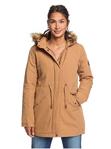 Roxy Sun Goes Down - Hooded Canvas Parka Jacket for Women - Frauen