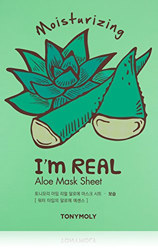 TONYMOLY I'm Real Aloe Sheet Mask, 10 Count