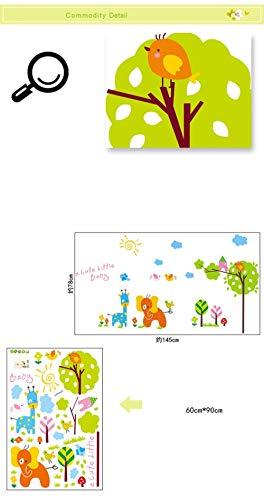 Adhesivo decorativo para pared, diseño de árbol de flores