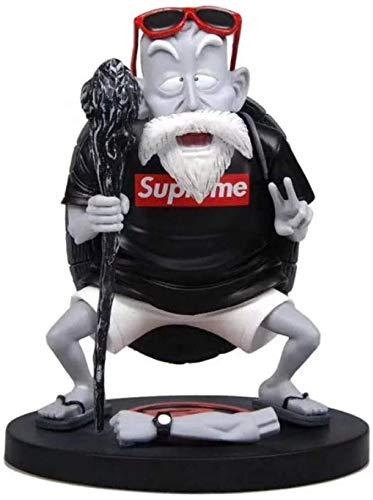 Mopoq Tendance Statue Dragon ball Z Master Roshi professeur tortue Kame Sennin modèle blanc noir PVC Figurine Collection Jouets Y1015-Blanc (Color : Noir)