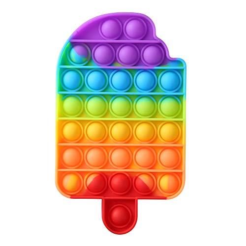 HANGHANG - Giocattolo a forma di bolla, giocattolo sensoriale a forma di arcobaleno, per autismo, per alleviare lo stress, alleviare l'ansia, giocattolo sensoriale colorato per adulti e bambini