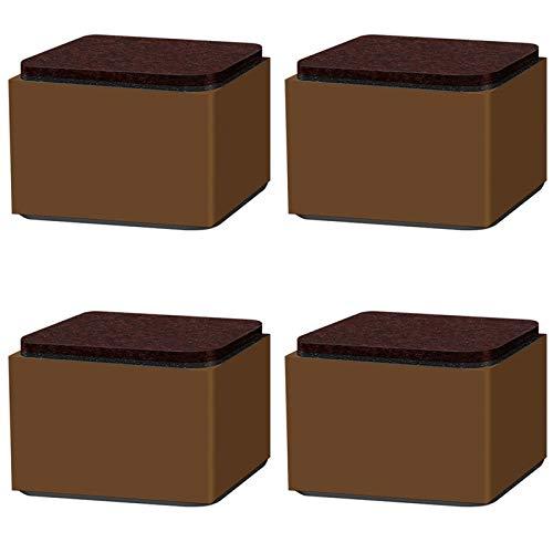 ZHXY 3.2 cm Möbelerhöhung aus Karbonstahl,6cm breit,Selbstklebende Möbelerhöhung fügt 3.2 cm Höhe zu Betten,Sofas Schränken,Uping Möbelhöhe erhöhen Tischhöhe erhöhen Möbelerhöher,Schwarz Quadrat.