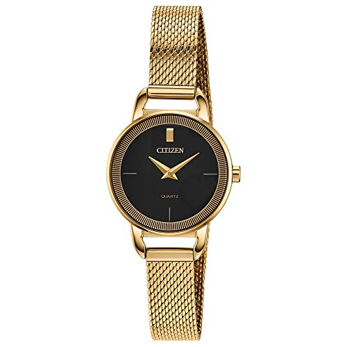 Citizen Women's Japanese-Quartz Stainless-Steel Strap, Gold, 10 Casual Watch (Model: EZ7002-54E)