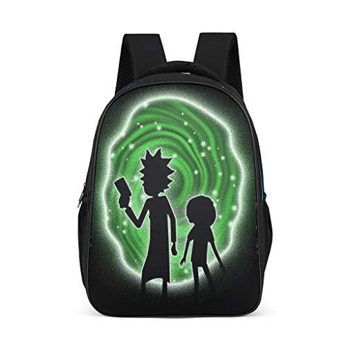 Fanaxii Mochila infantil Anime Rick and Morty para tiempo y espacio  túnel  escolar