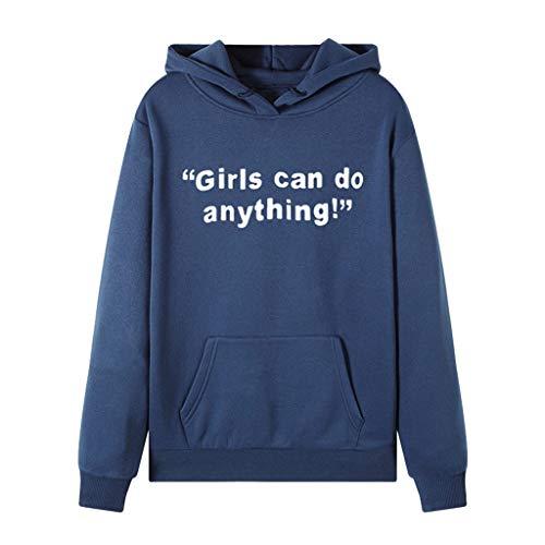 Fcostume Sweatshirts Damen Fairy Costume Pull à Capuche à Manches Longues pour Femme - Bleu - XL