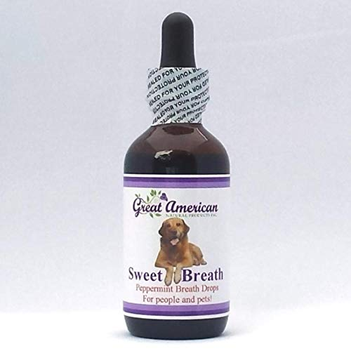 Natural Breath Drops for Pets with Chlorophyll & Peppermint Essential...