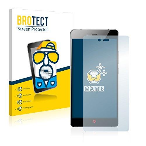 BROTECT 2X Entspiegelungs-Schutzfolie kompatibel mit ZTE Nubia Z9 Max Bildschirmschutz-Folie Matt, Anti-Reflex, Anti-Fingerprint