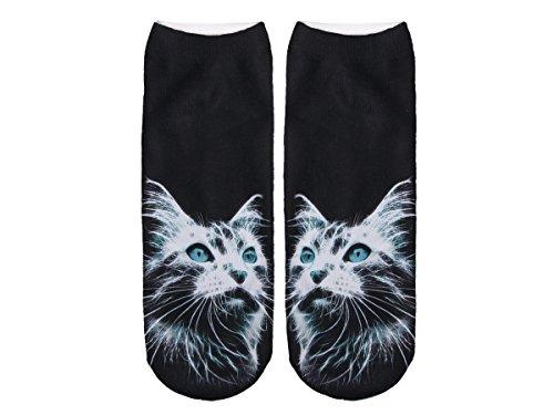 Unbekannt Socken bunt mit lustigen Motiven Print Socken Motivsocken Damen Herren ALSINO, Variante wählen:SO-L014 Katze