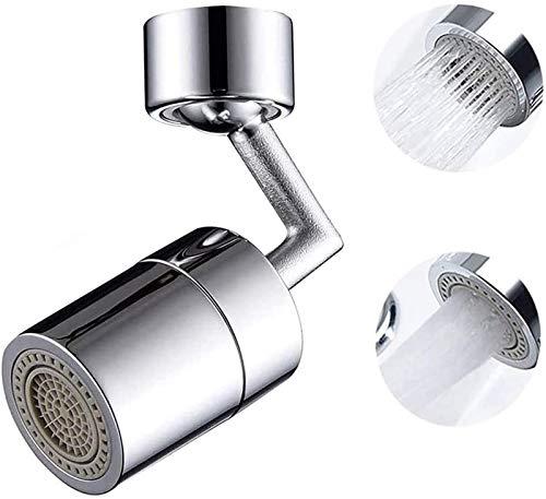 NBALL-TT Movible Cocina Grifo de Acero Inoxidable Adaptador de Grifo Giratorio de 360 Grados Grifo de Fregadero, Utilizado para Cocina y baño